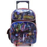 "Marvel Avengers Large School Roller Backpack 16"" Trolley Rolling Bag"