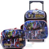 "Marvel Avengers Infinity War 12"" Small Roller Backpack with Lunch Bag 2pc Set"