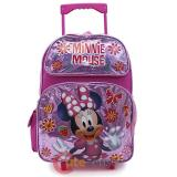 "Disney Minnie Mouse Large School Roller Backpack 16"" Rolling Bag"