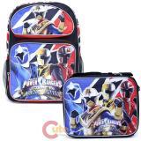 "Power Rangers Large 16"" School Backpack Lunch Bag 2pc Set -Ninja Steel"