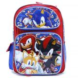 "Sonic The Hedgehog School Backpack  16"" Large Bag Sonic Sub"