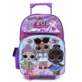 "LOL Surprise Large School Roller Backpack 16"" Rolling Bag Work It BB"