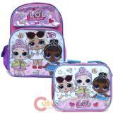 "LOL Surprise 16"" Large School  Backpack Lunch Bag 2pc Book Bag Set -Work It BB"