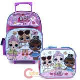 "LOL Surprise 16"" Large School Roller Backpack Lunch Bag 2pc Set -Work It BB"