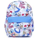 Alice in Wonderland  AOP Large School Backpack