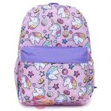 Unicorn AOP Large School Backpack Pink