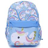 Unicorn Large School Backpack Blue
