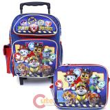 "Nickelodeon Paw Patrol 12"" Small Roller Backpack with Lunch Bag 2pc Set - Team Work"
