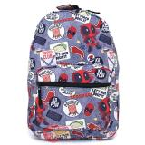 Marvel Comic Deadpool sublimated backpack
