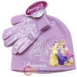 Disney Princess Beanie Set with Gloves -2pc Pink Castle