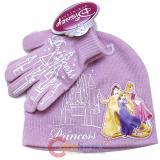 Disney Princess Beanie Set with Gloves -2pc Pink Castle