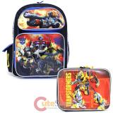 Transformers Large School Backpack Lunch Bag 2pc Set