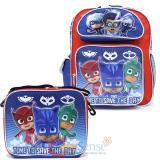 "PJ Masks 12"" Small School Backpack Lunch Bag 2pc Set"