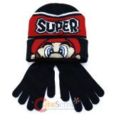 Super Mario Beanie Set Super