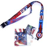 Captain America Zip Lanyard