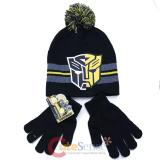 Transformer Bumble Bee Beanie Hat Gloves Set