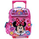 "Disney Minnie Mouse Roller Backpack 12"" Small Rolling Bag -Smile"