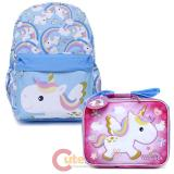 Unicorn Large School Backpack Lunch Bag 2pc Set
