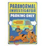 Sccoby Doo Paranormal Investigators Tin Parking Sign