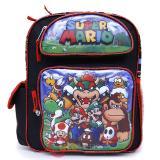 """Nintendo Super Mario 12"""" School Backpack Medium Size Boys Book Bag - Mario Sub"""