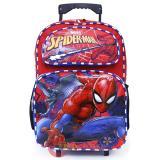 """Marvel Spiderman Large School Roller Backpack 16"""" Bag"""