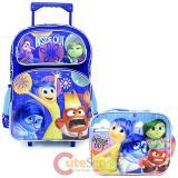Disney Inside Out   Large  School  Roller Backpack with Lunch Bag Set- Emotion Rain