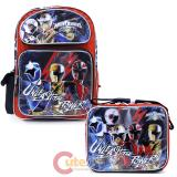 "Power Rangers Large 16"" School Backpack Lunch Bag 2pc Set -Unleash"