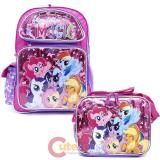 "My Little Pony 16"" Large School Backpack Lunch Bag 2pc Set -Friendship Magic"