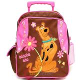 "Scooby Doo Small Pink Roller School Backpack  12"" Rolling Bag"