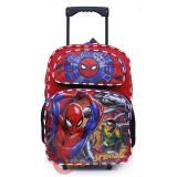 "Marvel Spiderman Large School Roller Backpack 16"" Bag"