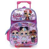 """LOL Surprise Large School Roller Backpack 16"""" Rolling Bag Glitter"""