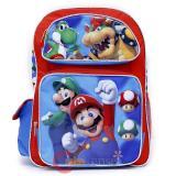 "Nintendo Super Mario Large School Backpack 16"" Book Bag - Jump"