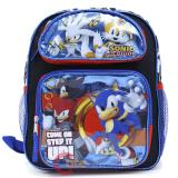 "Sonic The Hedgehog School Backpack  12"" Large Bag Step it Up"