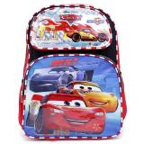 "Cars Mcqueen Large School Backpack 16"" Book Bag - Top Engine"