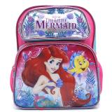 "Disney Little Mermaid Ariel  School Backpack 12"" Medium Bag- Sea Shore"