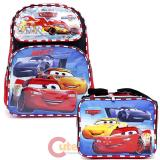 Cars Large School Backpack and Lunch Bag Set Top Racer
