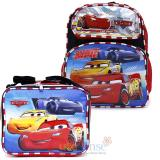 "Cars Mcqueen 12"" Small  School Backpack with  Lunch Bag Set"