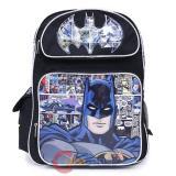 "DC Comics Batman Large School Backpack 16"" Book Bag Comic"