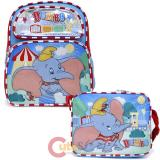 Disney Dumbo 12in School Backpack Lunch Bag 2pc Set