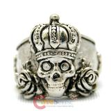 Skull King Rose Ring