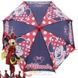 Disney Minnie Mouse Kids Umbrella -Red Polka