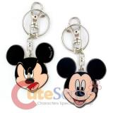 Disney Mickey Mouse 2 Face Metal Key Chain