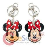 Disney Minnie Mouse 2 Face Metal Key Chain