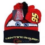 Disney Cars Mcqueen Beanie Hat Set Big Face