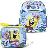 Spongebob 12in School Backpack Lunch Bag 2pc Set