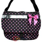 Pink Polka Dots Messenger Bag /Shoulder School Bag