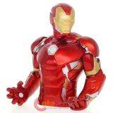Marvel Avengers Iron Man Bust Figure Coin Bank Metallic