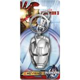 Marvel Iron Man Mask Key Chain Pewter Key Holder