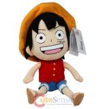 """One Piece Luffy Plush Doll seated Large 12"""""""