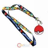 Pokemon Lanyard Keychain ID Holder Gotta Catch em All